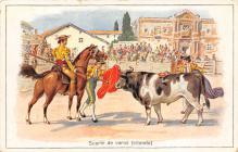 spof017250 - Suerte de varas Bull Fighing, Bullfighting Postcard