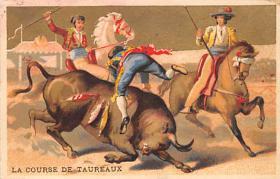spof017268 - La Course de Taureaux Bullfighting Tradecard