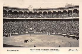spof017272 - Barcelona, Interior De la Plaza De Torous, Monumental Tarjeta Postal Bullfighting Postcard