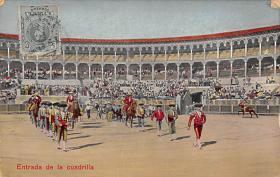 spof017291 - Entrada de la Cuadrilla Tarjeta Postal Bullfighting Postcard