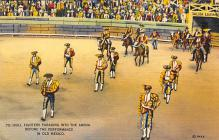 spof017293 - Bull Fighters Parading into Arena Tarjeta Postal Bullfighting Postcard
