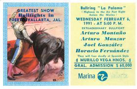 spof017296 - Bullring La Paloma Tarjeta Postal Bullfighting Postcard