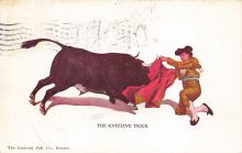 spof017306 - The Kneeling Trick Tarjeta Postal Bullfighting Postcard