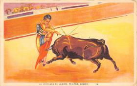 spof017312 - La Estocada de Muerte Tarjeta Postal Bullfighting Postcard