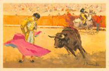 spof017314 - Remate Adorned cloak pass Tarjeta Postal Bullfighting