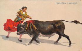 spof017315 - Estocada a Volapie Tarjeta Postal Bullfighting