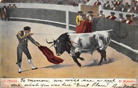 spof017330 - El Matador Tarjeta Postal Bullfighting