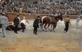 spof017333 - El Arrastre Tarjeta Postal Bullfighting