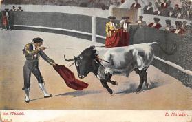 spof017340 - El Matador Tarjeta Postal Bullfighting