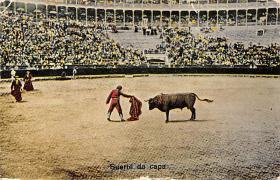 spof017345 - Suerte de capa Tarjeta Postal Bullfighting