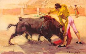 spof017354 - Estocada Tarjeta Postal Bullfighting