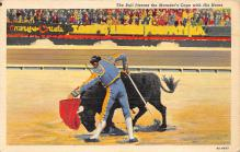 spof017356 - The Bull Pierces the Matador's Cape with His Horns Tarjeta Postal Bullfighting