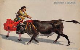 spof017357 - Estocada a Volapie Tarjeta Postal Bullfighting