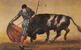 spof017358 - Pase Natural Tarjeta Postal Bullfighting