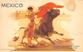 spof017359 - Mexico, Asociacion Mexicana de Turismo Tarjeta Postal Bullfighting