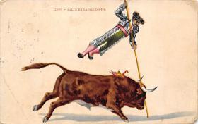 spof017363 - Salto De La Garrocha Tarjeta Postal Bullfighting