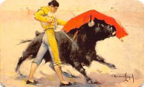 spof017370 - Pase de pecho de Valazquez, Chest Pass Tarjeta Postal Bullfighting