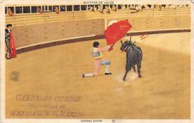 spof017381 - Muestra De Valor, Daring Show Tarjeta Postal Bullfighting