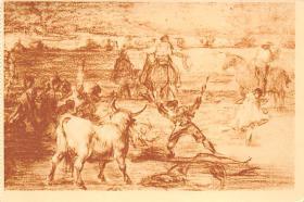 spof017382 - Banderillas de fuego Museo del Prado Tarjeta Postal Bullfighting