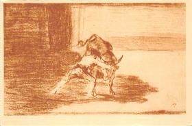 spof017383 - El Famoso Martincho poniendo banderillas al quiebro, Museo del Prado Bullfighting