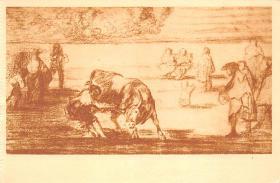 spof017384 - Martincho vuelca un toro en la Plaza de Madrid, Museo del Prado Bullfighting