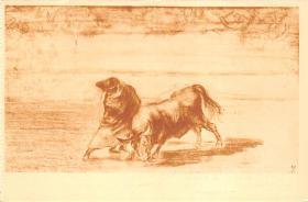 spof017385 - El diestrisimo estudiante de Falces, Embozado Museo del Prado Bullfighting