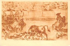 spof017391 - Perros al Toro, Museo del Prado Tarjeta Postal Bullfighting