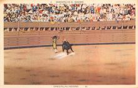 spof017398 - Banderillas Al Quiebro, Banderillas Dodging Tarjeta Postal Bullfighting
