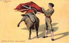 spof017400 - Corria de Toros Pase auudado Tarjeta Postal Bullfighting