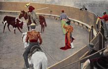 spof017402 - Mexican Bull Fight, Picador Engaging Bull Tarjeta Postal Bullfighting
