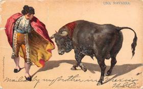 spof017414 - Una Navarra Tarjeta Postal Bullfighting