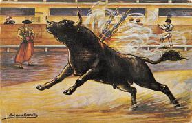 spof017415 - Salvador Carreho, Firecrackers Tarjeta Postal Bullfighting