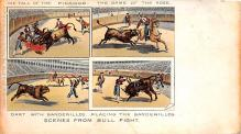 spof017416 - The fall of the Picador, The Game of the Rose Tarjeta Postal Bullfighting