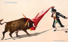 spof017418 - Un Capotazo Tarjeta Postal Bullfighting