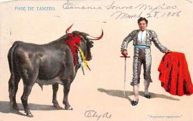 spof017419 - Pase De Tanteo Tarjeta Postal Bullfighting