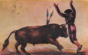spof017420 - Saliendo de Tarjeta Postal Bullfighting