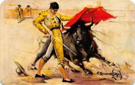 spof017421 - Pase de pecho de Valazquez, Chest Pass Tarjeta Postal Bullfighting
