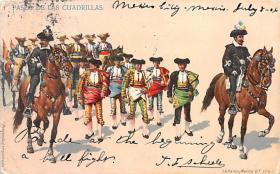 spof017422 - Paseo de Las Cuardrillas Tarjeta Postal Bullfighting