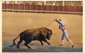 spof017423 - Un buen par de banderillas Tarjeta Postal Bullfighting