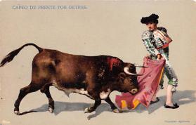 spof017425 - Capeo de Frente por Detras Tarjeta Postal Bullfighting