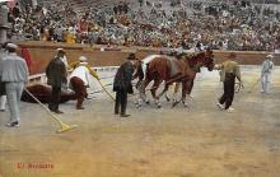 spof017428 - El Arrastre Tarjeta Postal Bullfighting