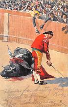 spof017442 - A Bull fight after the original drawings by Frank Dean Tarjeta Postal Bullfighting