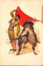 spof017449 - Pase aforolado Tarjeta Postal Bullfighting