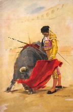spof017453 - Caletilla Bull Ring, Humberto Moro Tarjeta Postal Bullfighting