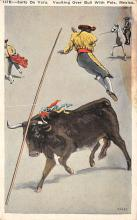 spof017461 - Salto de Vara, Vaulting Over Bull with Pole Tarjeta Postal Bullfighting