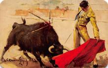 spof017479 - Natural de Velazquez, Natural Pass Tarjeta Postal Bullfighting