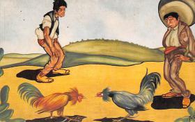 spof017480 - Pelea de gallos, Cock Fight Tarjeta Postal Bullfighting