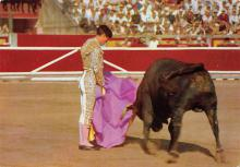 spof017482 - Corrida de Toros, A Pass with the cape Tarjeta Postal Bullfighting