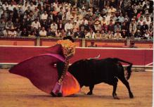 spof017487 - Corrida de Toros, A Pass with the cape Tarjeta Postal Bullfighting
