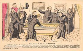 spof018025 - Une Partie de Carambolage Billiards, Pool Postcard Carte Postale